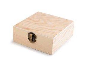 Dřevěná krabička čtverec -  12 cm