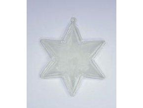 Plastová hvězda dvoudílná 6-ti cípá; 10 cm