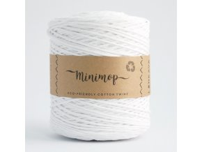 MINIMOP Macramé 2,5mm (500m) - WHITE