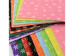 Dekorativní plsť / filc vločky 1ks, 30x30x0,1cm - 10 barev