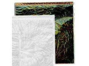 Tepané kovové plátky Home Design ART DECO, smaragdové - zeleno-zlatá