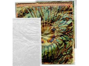 Tepané kovové plátky Home Design ART DECO, květový vzor - modro-zlatá
