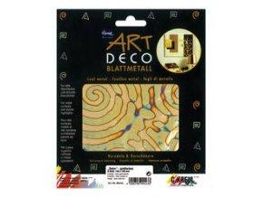 Tepané kovové plátky Home Design ART DECO, vzorované - retro-zlatá