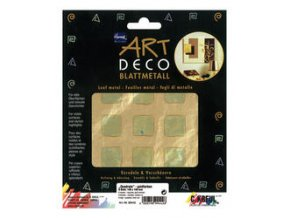 Tepané kovové plátky Home Design ART DECO, vzorované - čtverečky-zlatá