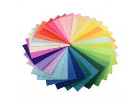 Látková dekorativní plsť / filc A4 - sada 40ks