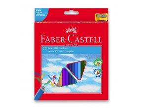 Pastelky Faber-Castell trojhranné 24ks + ořezávátko
