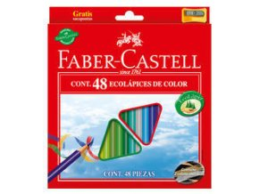 Tříhranné pastelky Faber-Castell Eco 48 ks