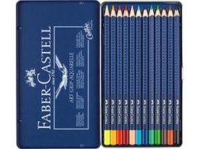 Akvarelové pastelky Faber-Castell Art Grip Aquarelle 12 ks