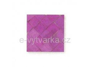 Skleněná mozaika, 10x10 mm (200 ks) - růžová/lila