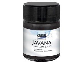 Kontury základní JAVANA (50 ml) hedvábí+textil - černá