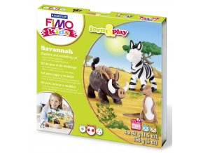 Sada Fimo kids Form & Play Zvířátka ze Savany