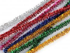 Chlupaté drátky lurexové ?6 mm délka cca 30 cm, 100ks - 9 odstínů