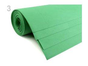 Pěnová guma Moosgummi 50x100 cm, 1mm - zelená