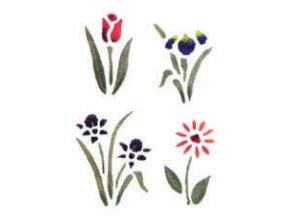 Motivová šablona BRICO Home Design (18x24 cm) - čtyři květiny