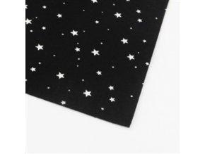 Dekorativní plsť / filc hvězdy 1ks, 30x30x0,1cm - modrý, černý
