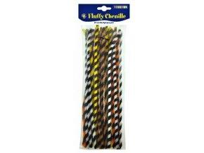 Chlupaté drátky 30cm, proužkované (25ks)