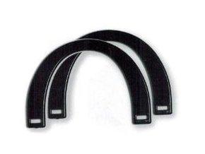 Ucho pro tašku Hoooked, pár - 12 x 17 cm, černá