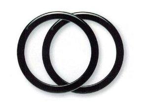 Ucho pro tašku Hoooked, kruhové, pár - pr. 20 cm, černé