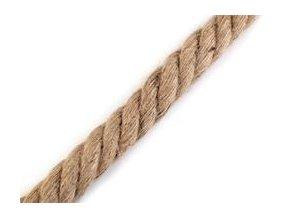 Silné jutové lano ?30 mm na výrobu uch, 1m