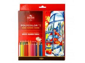 Sada pastelek Koh-I-Noor Polycolor (72ks) + dvě tužky a ořezávátko