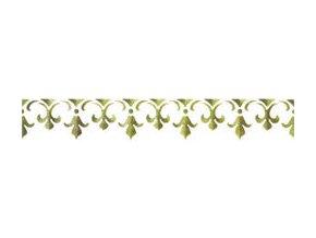 Motivová šablona BRICO Home Design (11x70 cm) - znak lilie 2