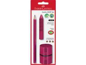 Art set červený Faber-Castell - tužky, pryž, ořezávátko