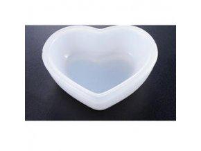 Silikonová forma 83x71x25mm Srdce miska