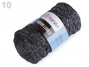 RibbonXL Lurex 290g - (723) černá - stříbrná