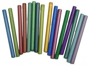 Sada 7 mm barevných metalických pečetních vosků -16ks