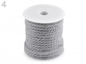 Bavlněná šňůra kroucená Ø5mm (5m) - šedá