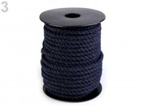 Bavlněná šňůra kroucená Ø6mm (5m) - tmavě modrá