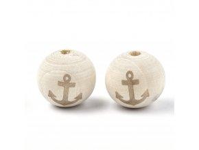 Dřevěné korálky 20mm (2ks) - kotva