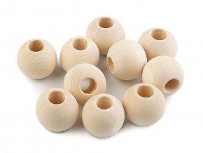 Dřevěné korálky nelakované 20 mm (10ks) vel. průvlek