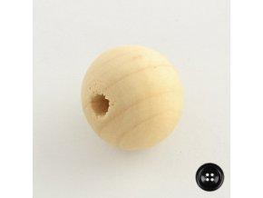 Korálky dřevěné, pr.4mm (100ks) - přírodní