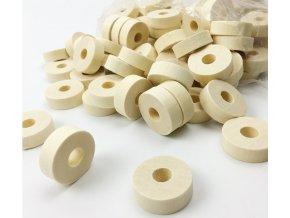 Dřevěné korálky 30x10mm (2ks) - donut