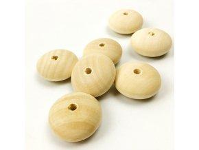 Dřevěné korálky 30x13mm (4ks)