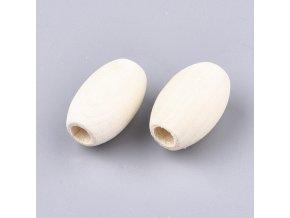 Dřevěné oválky 20x12mm (20ks)