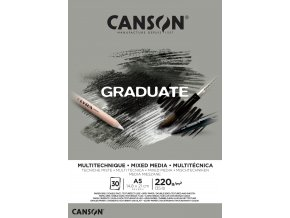Graduate Mix-Med skicák - lepený A5, A4, A3 (220 g/m2, 30 archů) Grey