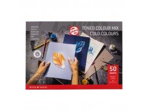 Tónovaný skicák RT - studené odstíny A4, A3 (180 g/m2)