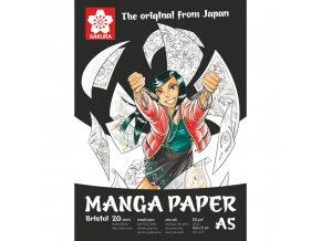 Skicák Manga pro komiksy Sakura A5, A4, A3 (250 g/m2, 20 archů)