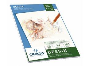 Drawing skicák - lepený A4, A3 (160g/m2, 20 archů)