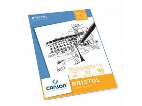 Bristol skicák - lepený A3 (180 g/m2, 20 archů)