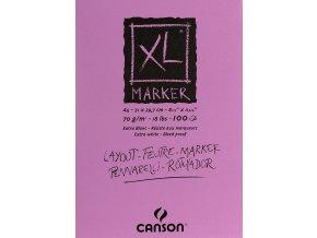 XL Marker skicák - lepený A4, A3 (70 g/m2, 100 archů)