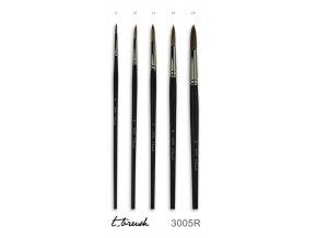 štětec t_brush ox-ear hair, vel. 2/0 až 22 - kulatý, plochý (3005)