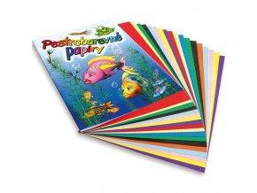 Složka barevných papírů A4 (20 listů) Rybka