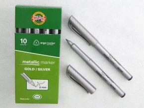 Metalický popisovač 3402 - stříbrný a zlatý - 2 mm