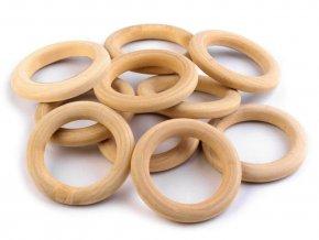 XXL BALENÍ Dřevěný kroužek (50ks) - 6 velikostí