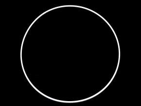 Kovový kruh (1ks) - bílý, 2 velikosti