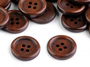 Dřevěný knoflík pr. 20mm (20ks)