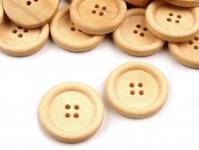 Dřevěný knoflík pr. 24mm (10ks)